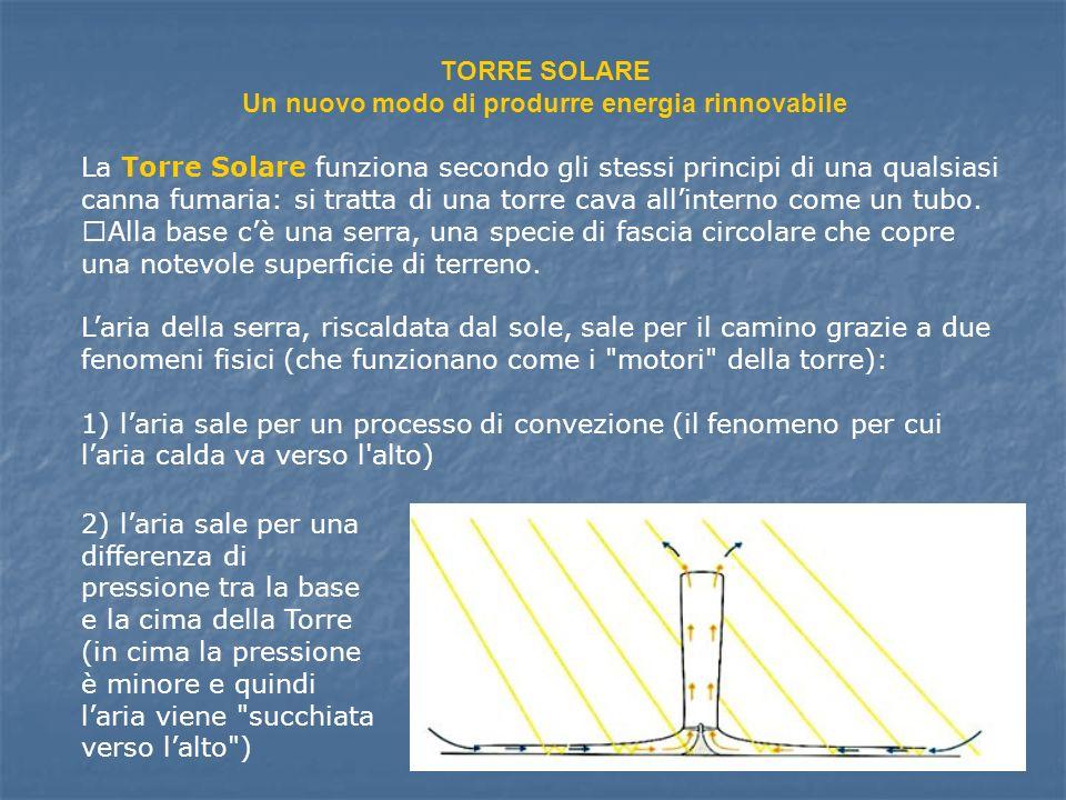 TORRE SOLARE Un nuovo modo di produrre energia rinnovabile
