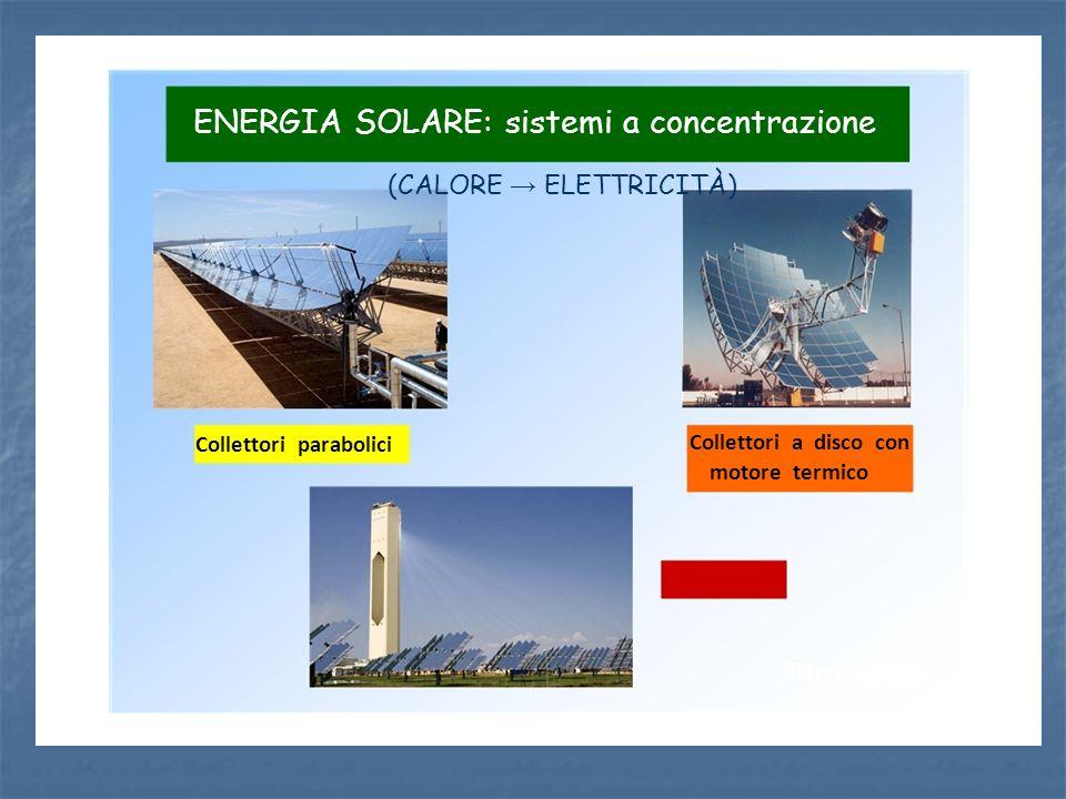 ENERGIA SOLARE: sistemi a concentrazione