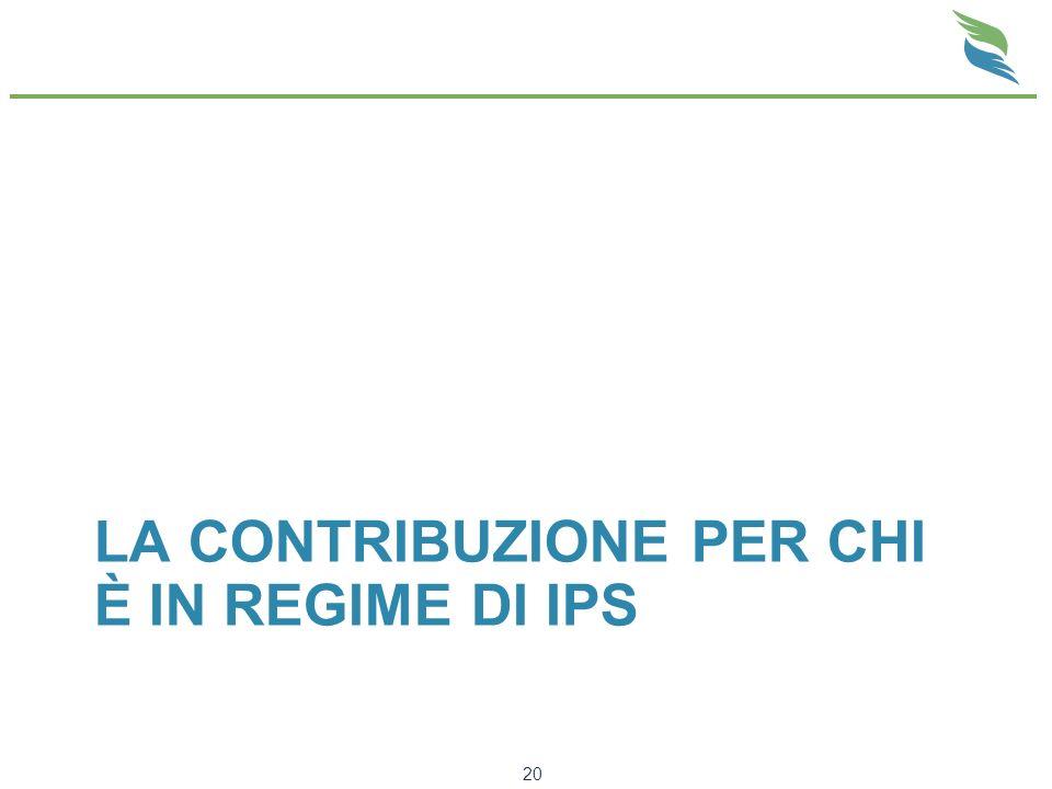 La Contribuzione per chi è in regime di IPS