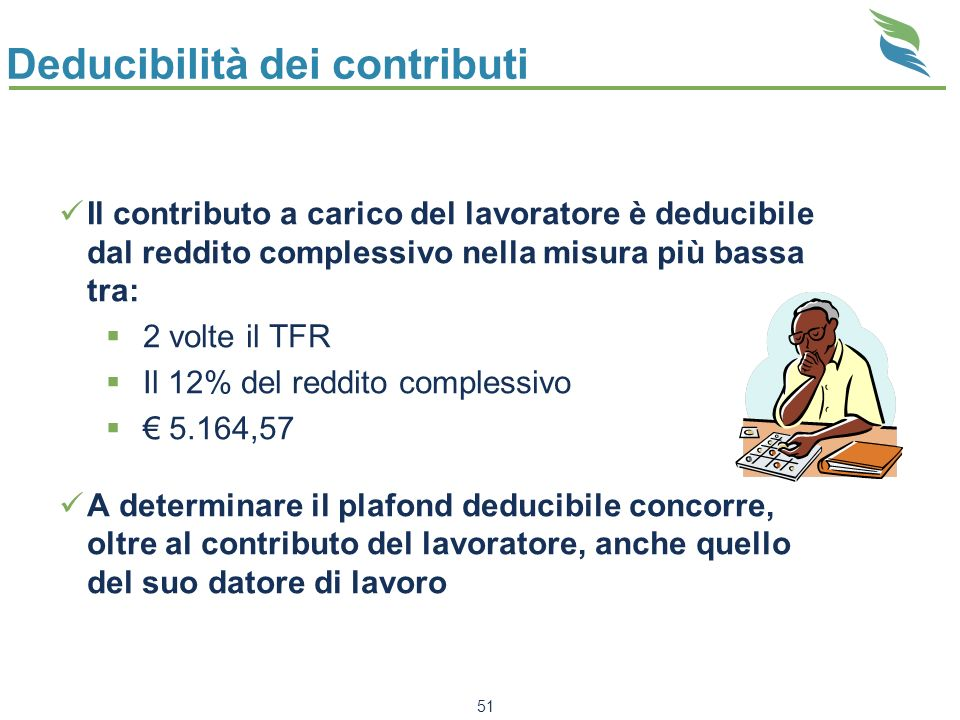 Deducibilità dei contributi