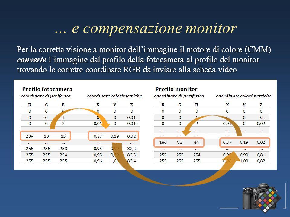… e compensazione monitor