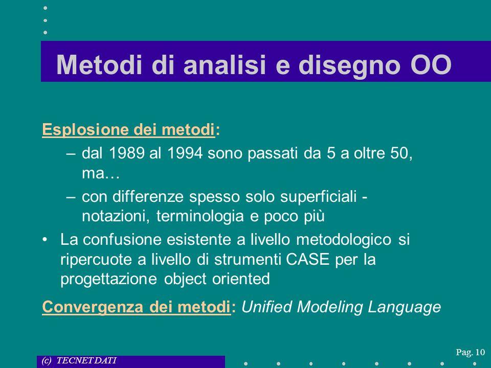 Metodi di analisi e disegno OO
