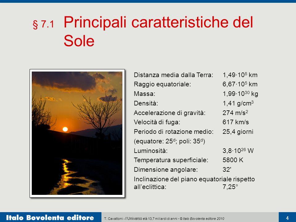 § 7.1 Principali caratteristiche del Sole