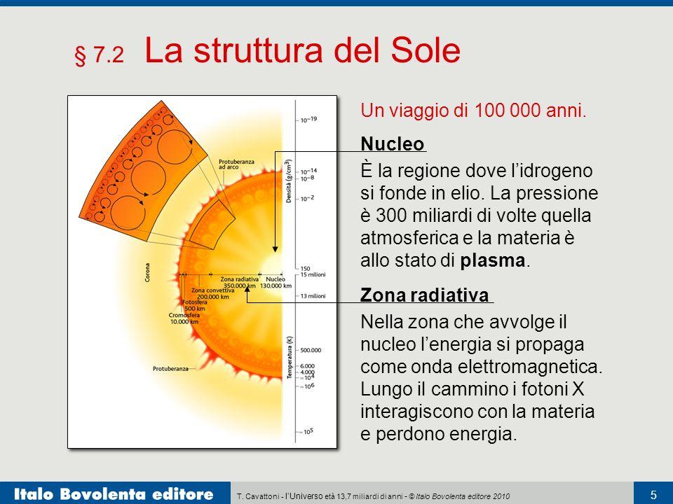§ 7.2 La struttura del Sole Un viaggio di 100 000 anni. Nucleo