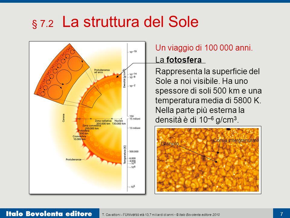 § 7.2 La struttura del Sole Un viaggio di 100 000 anni. La fotosfera