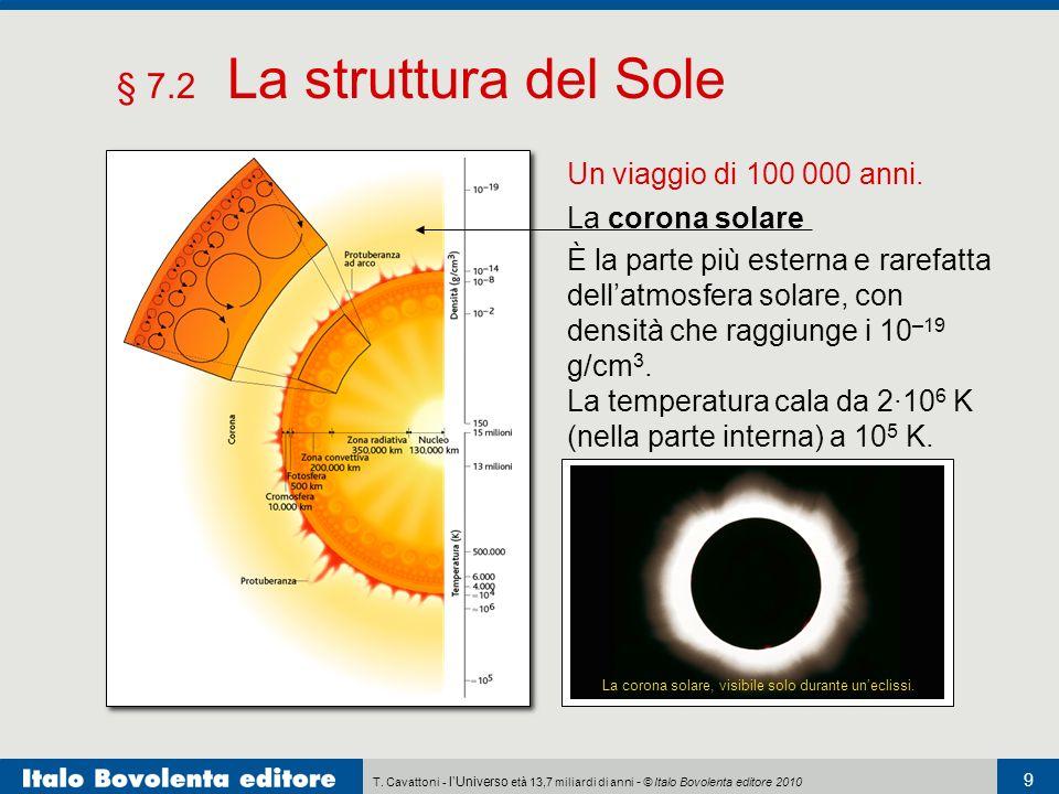 § 7.2 La struttura del Sole Un viaggio di 100 000 anni.