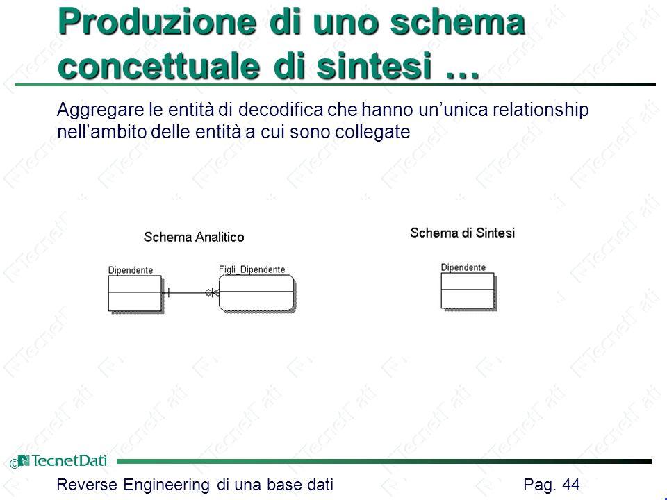 Produzione di uno schema concettuale di sintesi …