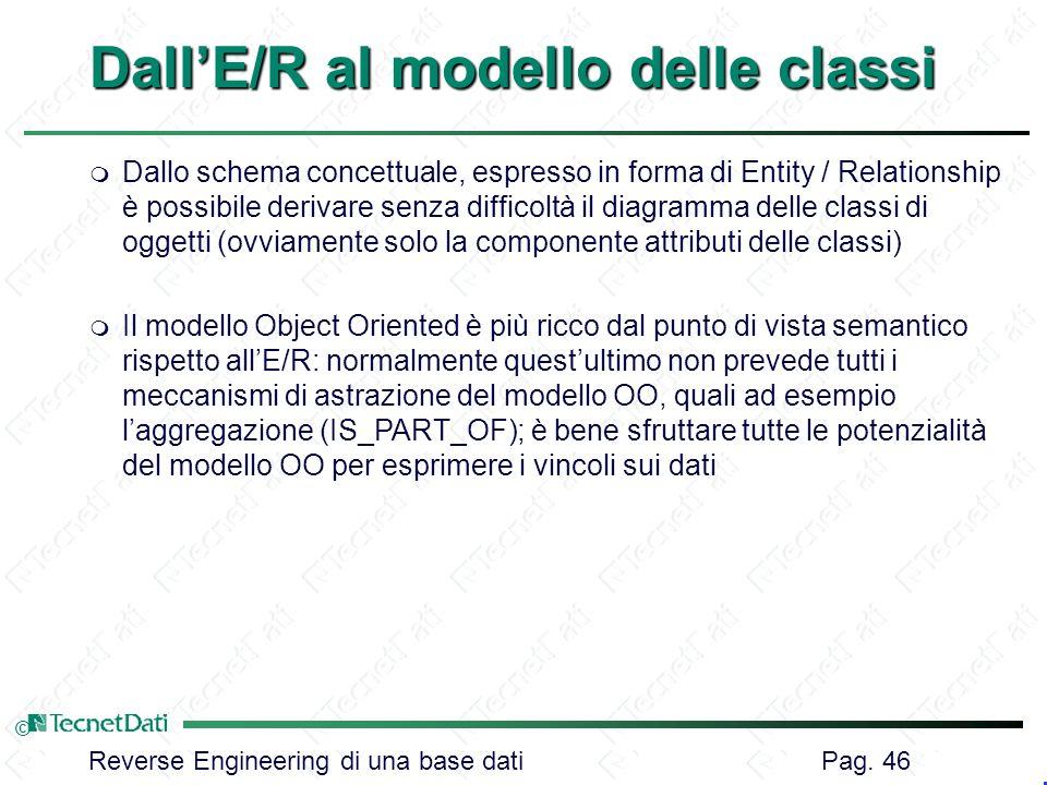 Dall'E/R al modello delle classi