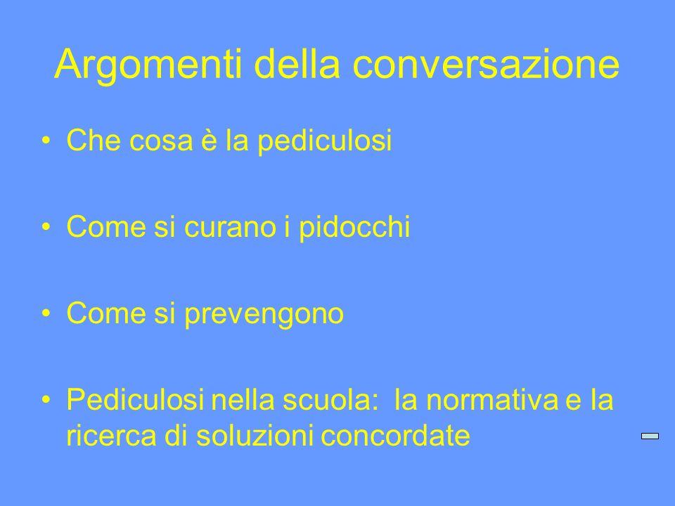 Argomenti della conversazione