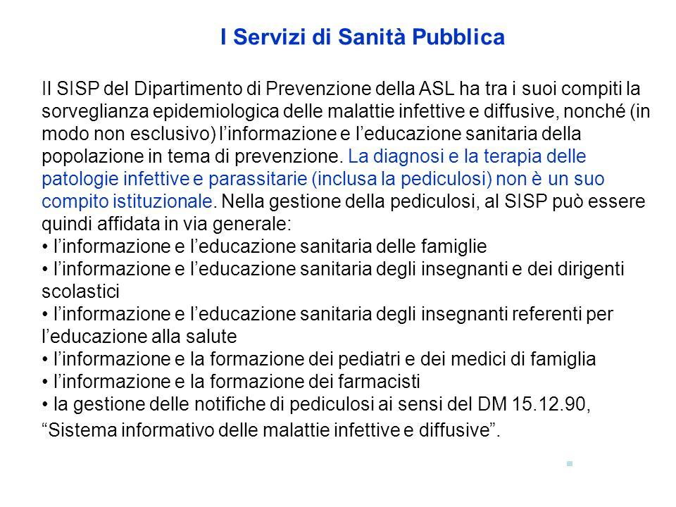 I Servizi di Sanità Pubblica