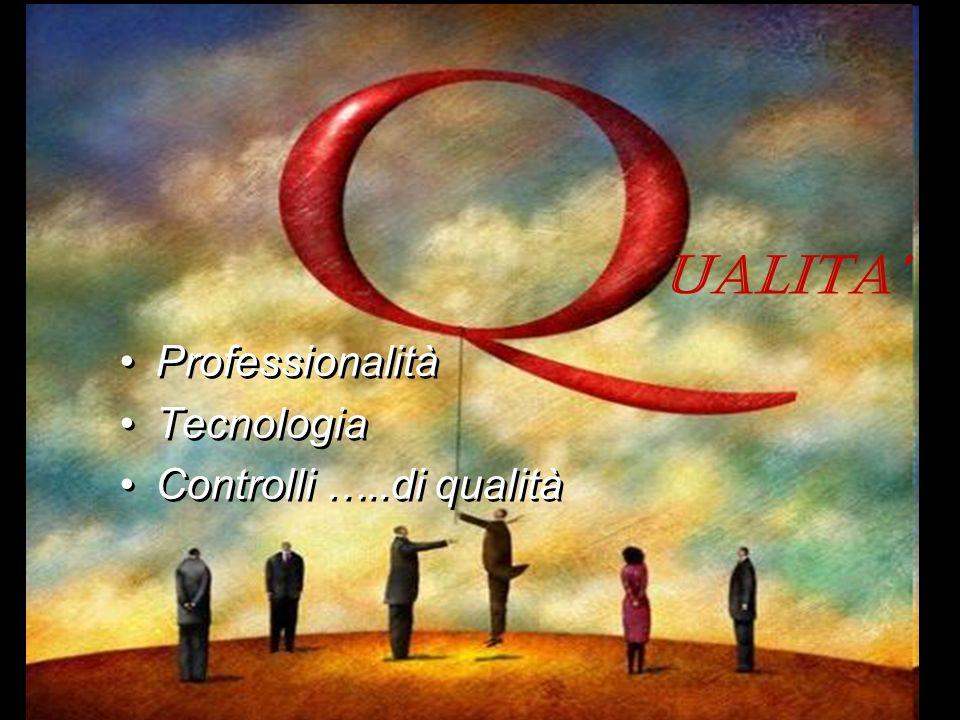 UALITA' Professionalità Tecnologia Controlli …..di qualità