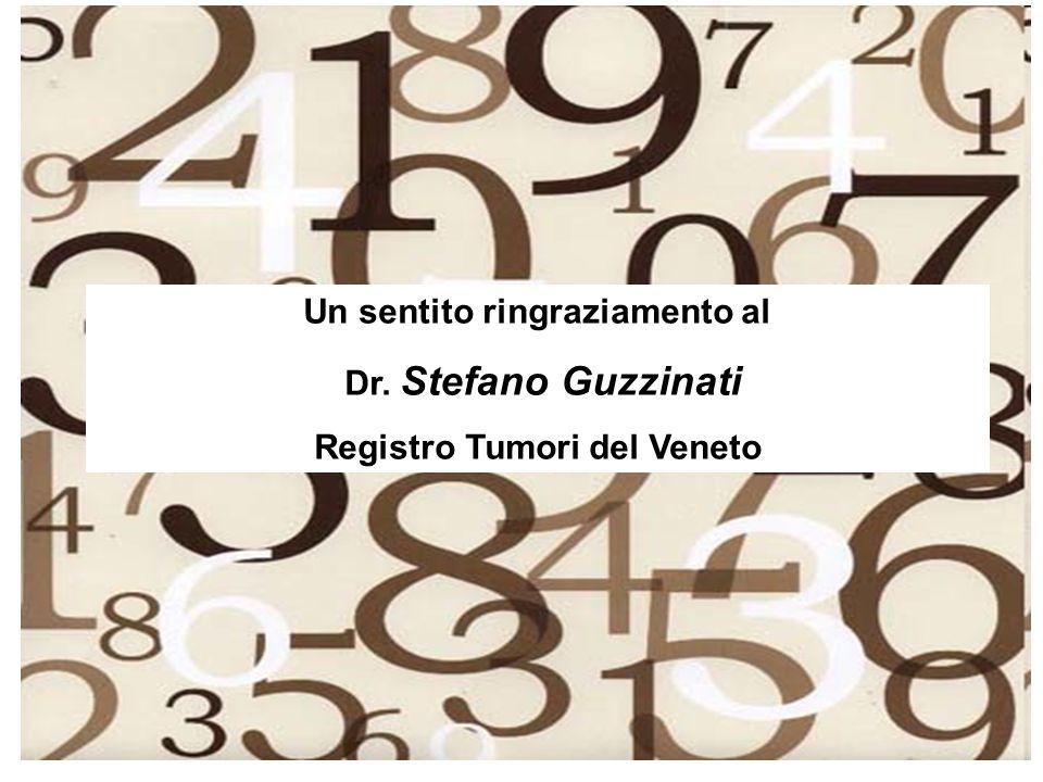 Un sentito ringraziamento al Registro Tumori del Veneto