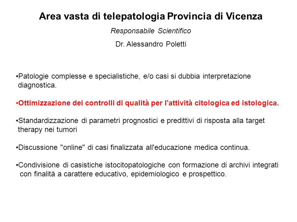 Area vasta di telepatologia Provincia di Vicenza