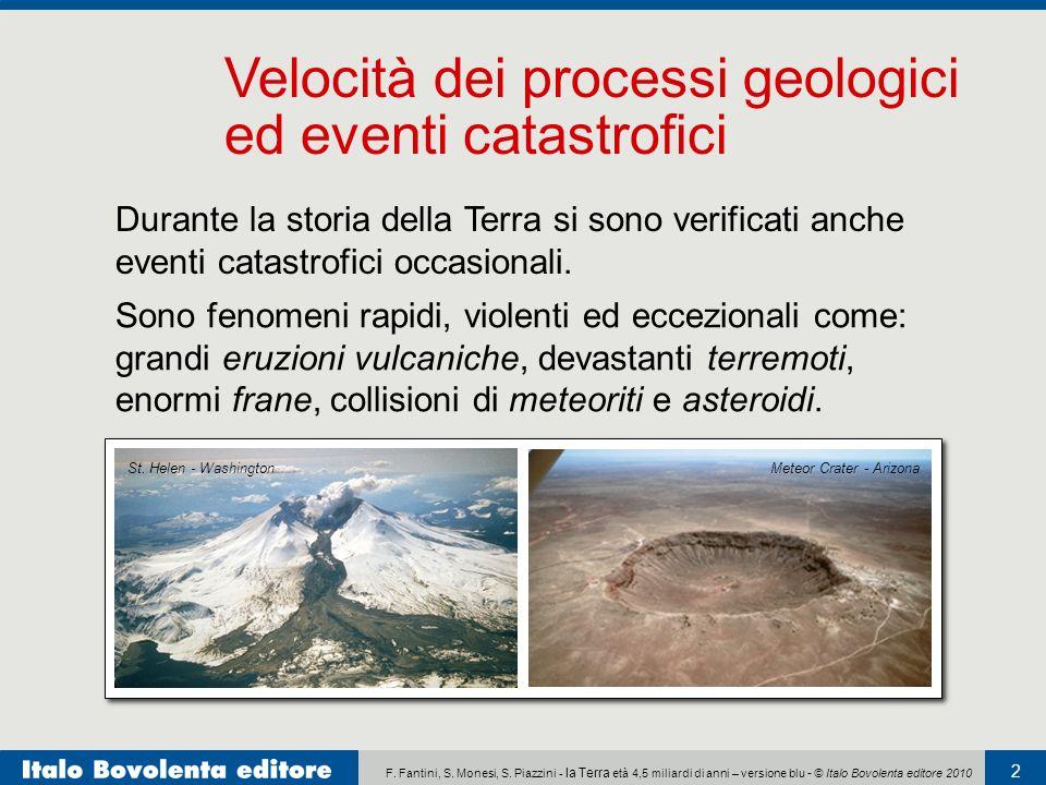 Velocità dei processi geologici
