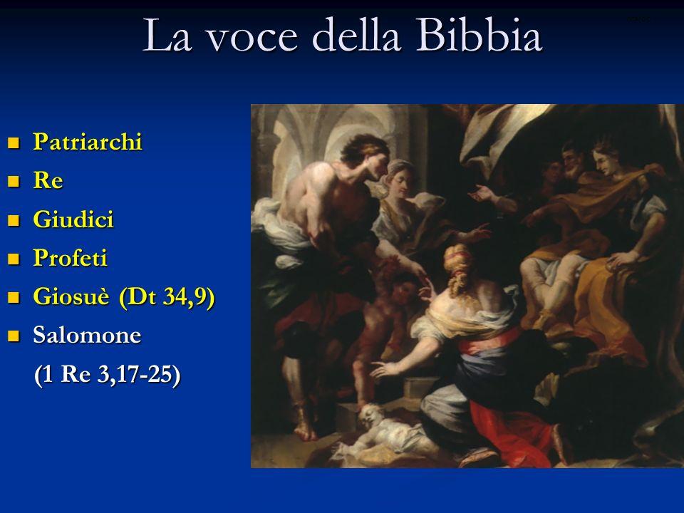 La voce della Bibbia Patriarchi Re Giudici Profeti Giosuè (Dt 34,9)
