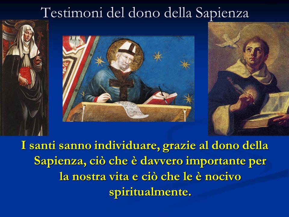 Testimoni del dono della Sapienza