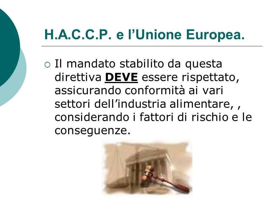 H.A.C.C.P. e l'Unione Europea.