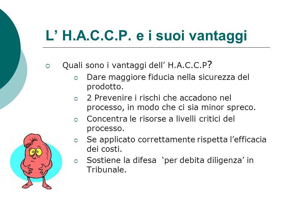 L' H.A.C.C.P. e i suoi vantaggi