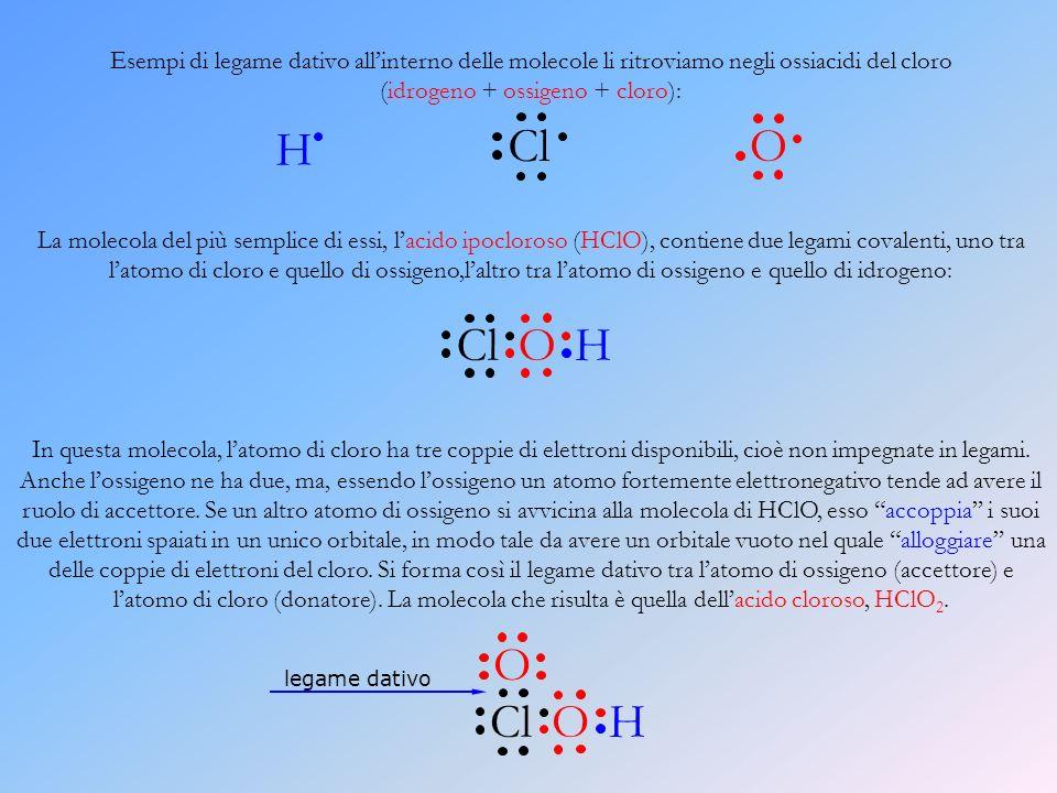 (idrogeno + ossigeno + cloro):