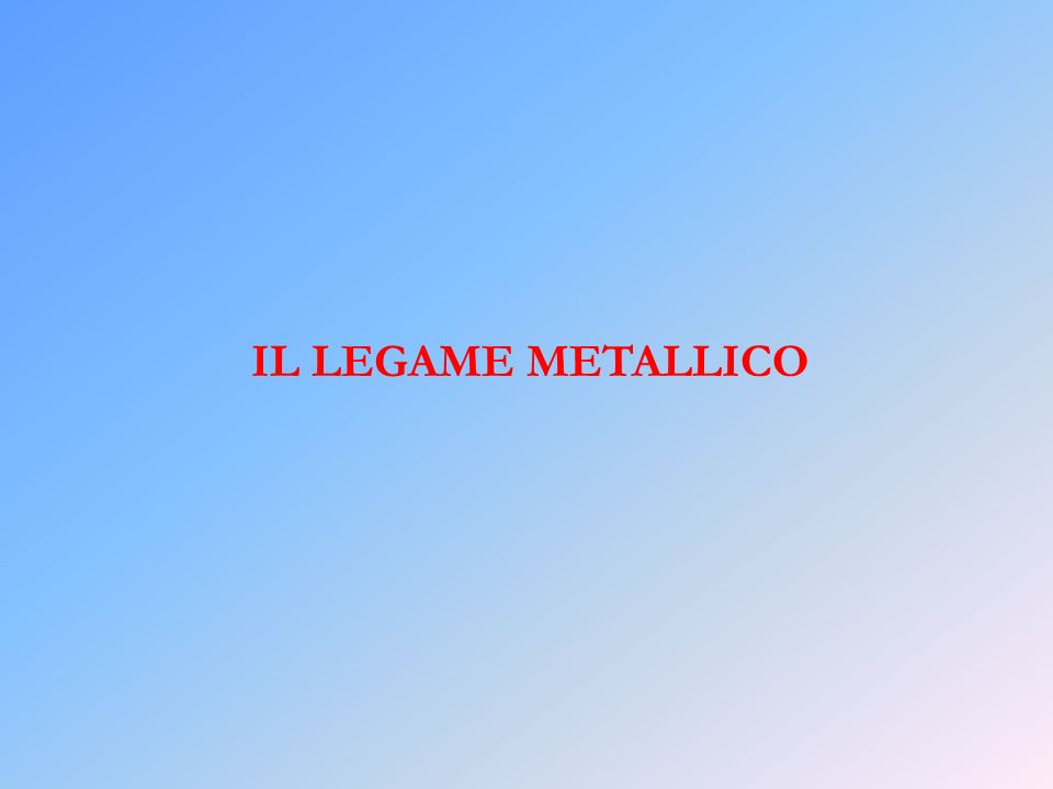 IL LEGAME METALLICO