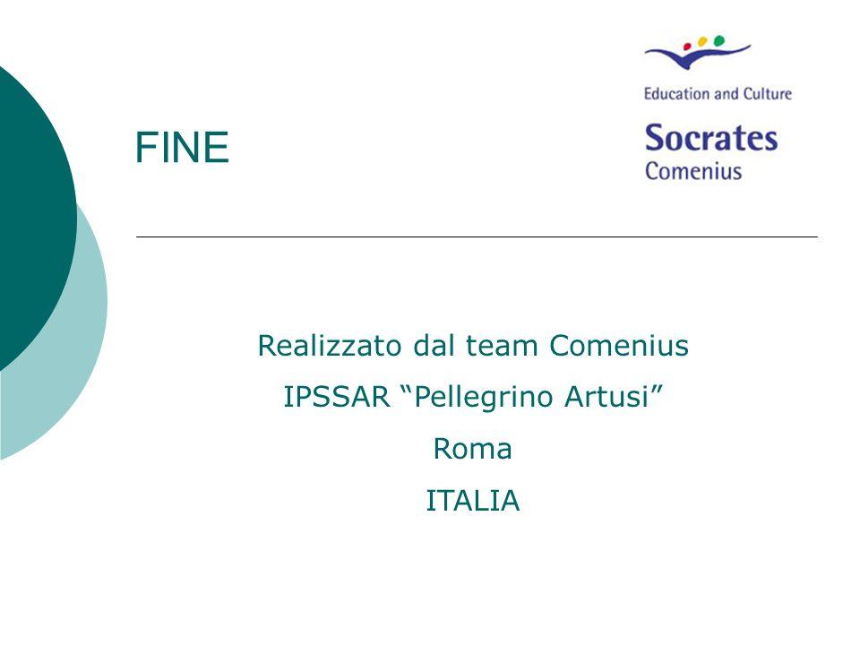 FINE Realizzato dal team Comenius IPSSAR Pellegrino Artusi Roma