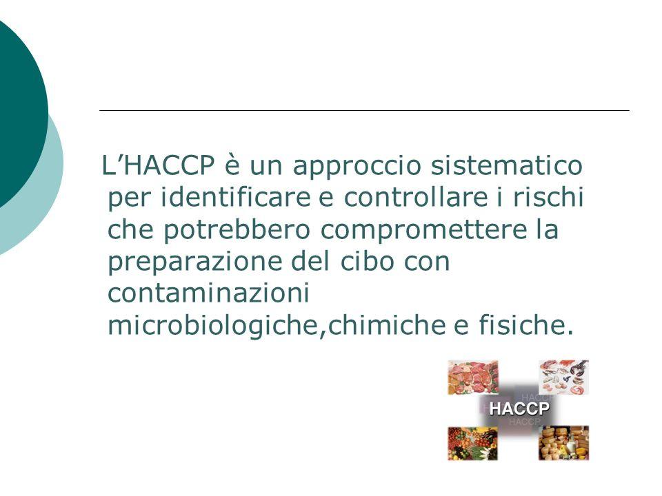 L'HACCP è un approccio sistematico per identificare e controllare i rischi che potrebbero compromettere la preparazione del cibo con contaminazioni microbiologiche,chimiche e fisiche.