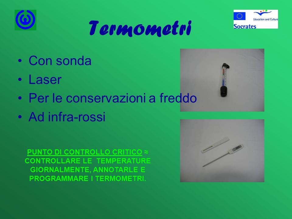 Termometri Con sonda Laser Per le conservazioni a freddo