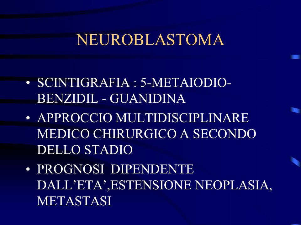 NEUROBLASTOMA SCINTIGRAFIA : 5-METAIODIO-BENZIDIL - GUANIDINA