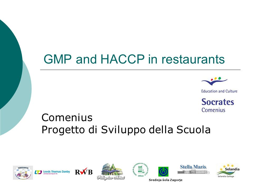 GMP and HACCP in restaurants