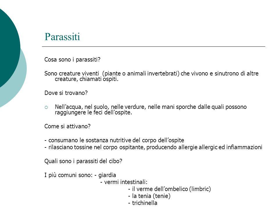 Parassiti Cosa sono i parassiti