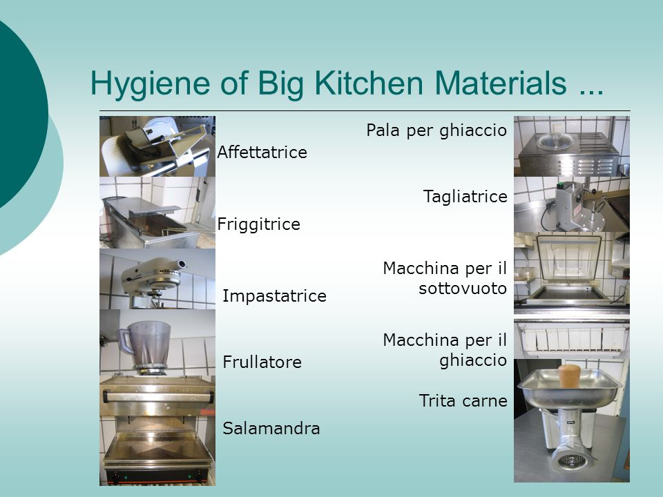 Hygiene of Big Kitchen Materials ...