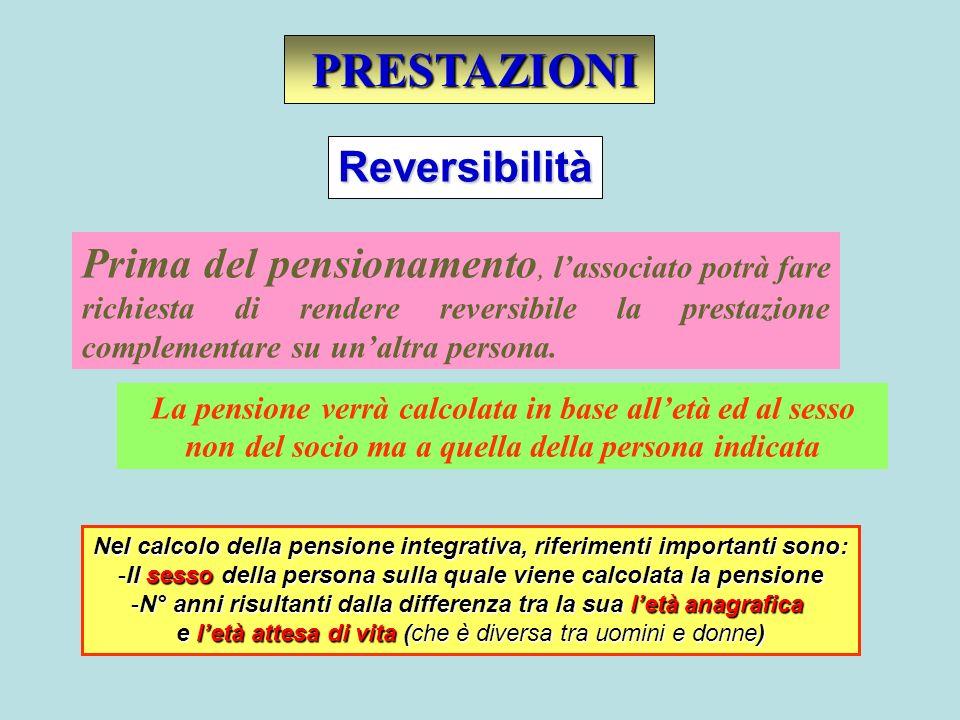 PRESTAZIONI Reversibilità