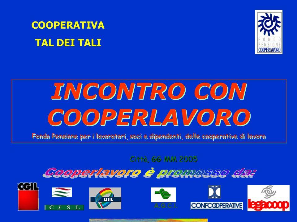 INCONTRO CON COOPERLAVORO Cooperlavoro è promosso da: