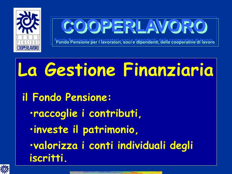 COOPERLAVORO La Gestione Finanziaria il Fondo Pensione: