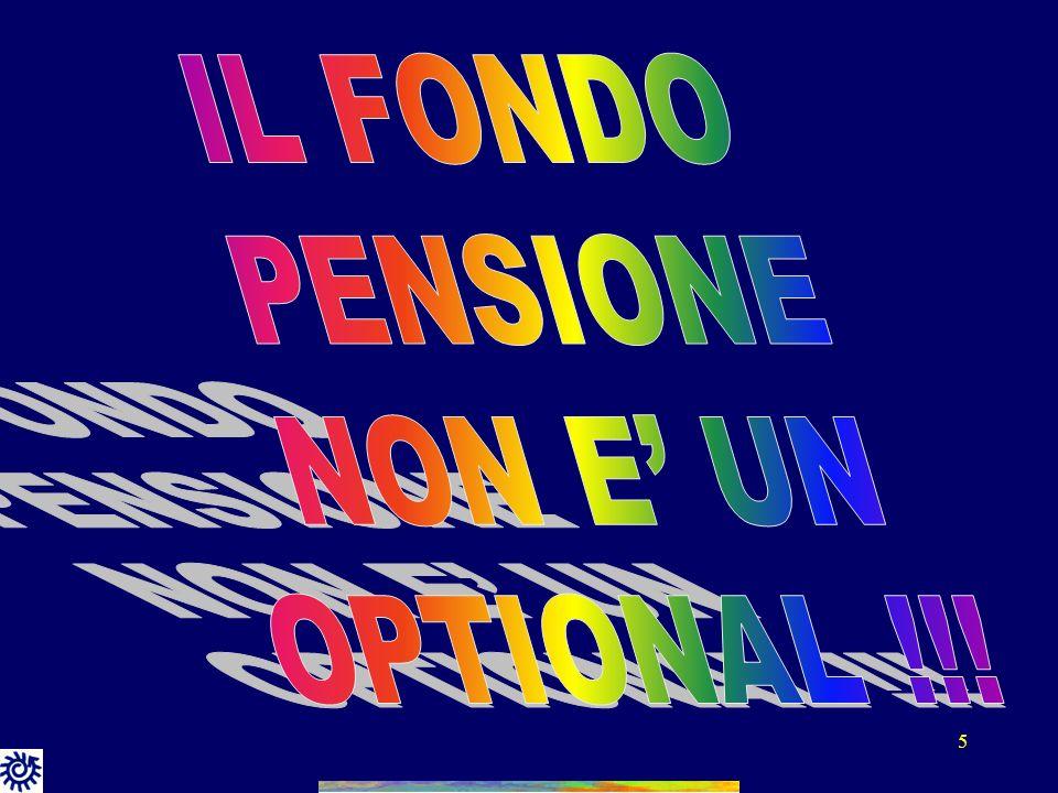 IL FONDO PENSIONE NON E' UN OPTIONAL !!!