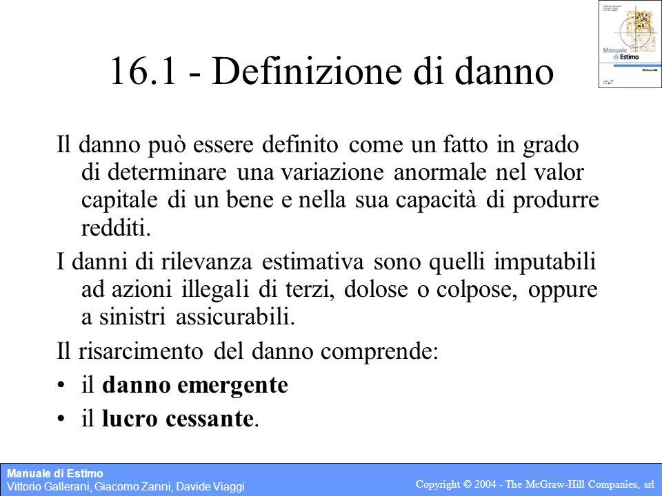 16.1 - Definizione di danno