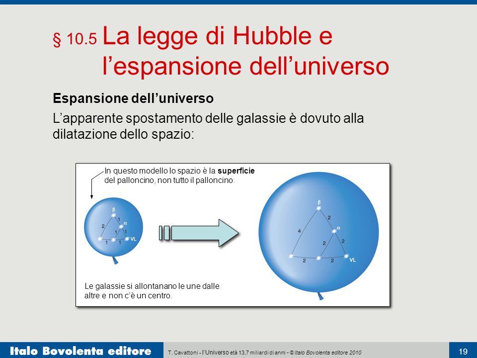 § 10.5 La legge di Hubble e l'espansione dell'universo