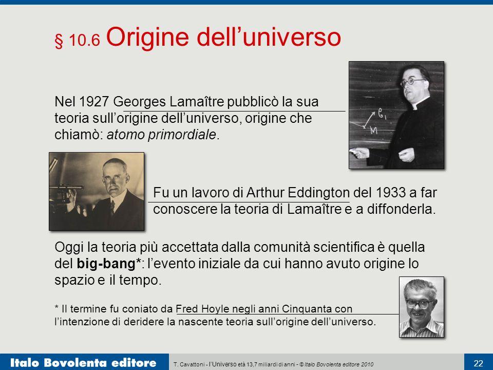 § 10.6 Origine dell'universo