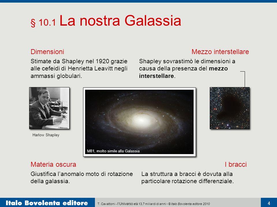 § 10.1 La nostra Galassia Dimensioni Mezzo interstellare