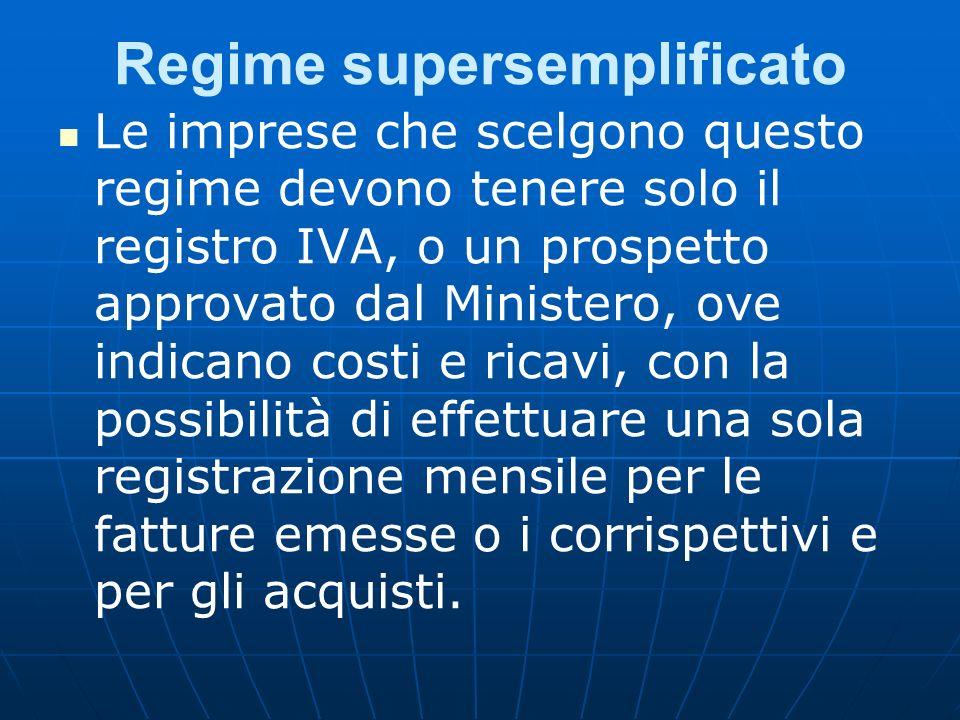 Regime supersemplificato