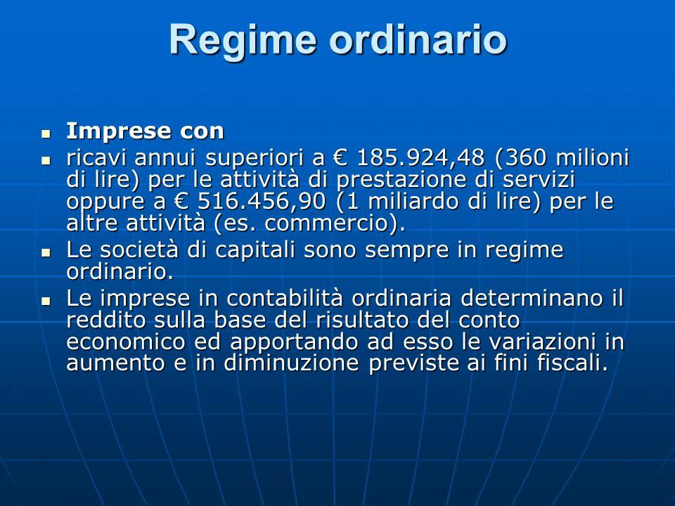 Regime ordinario Imprese con