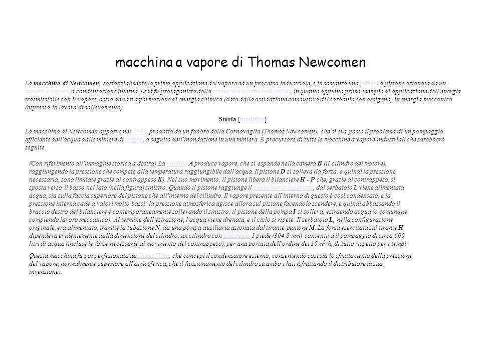 macchina a vapore di Thomas Newcomen