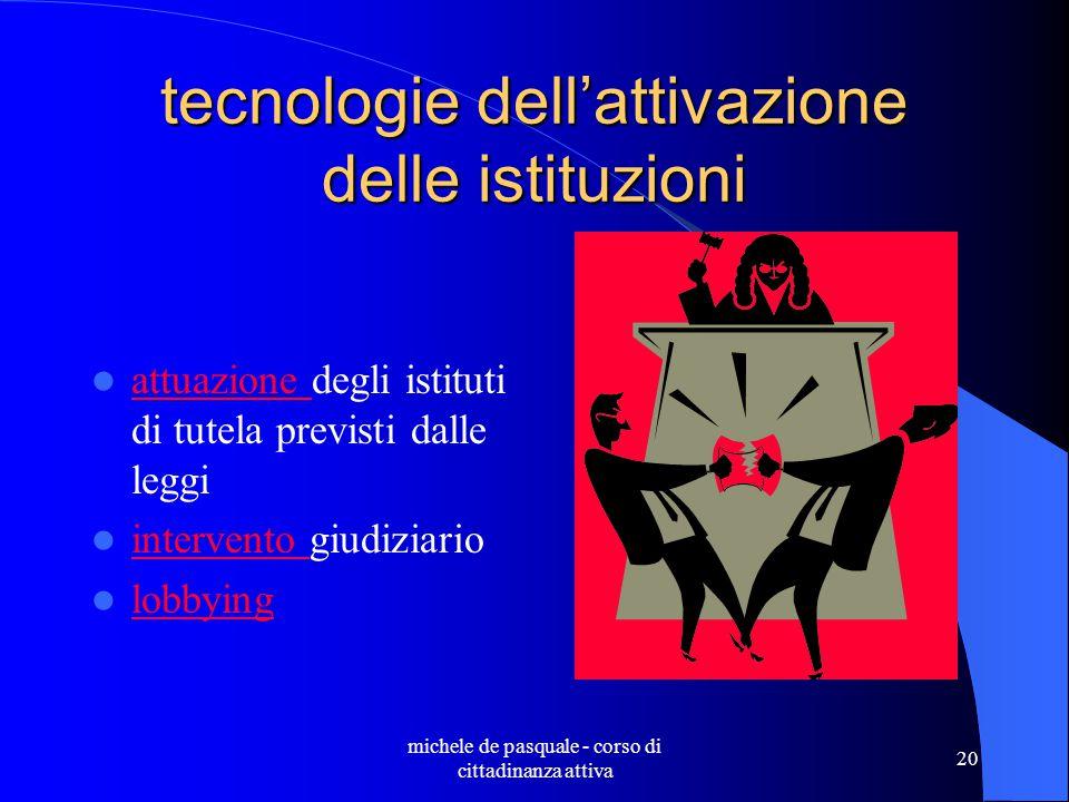 tecnologie dell'attivazione delle istituzioni