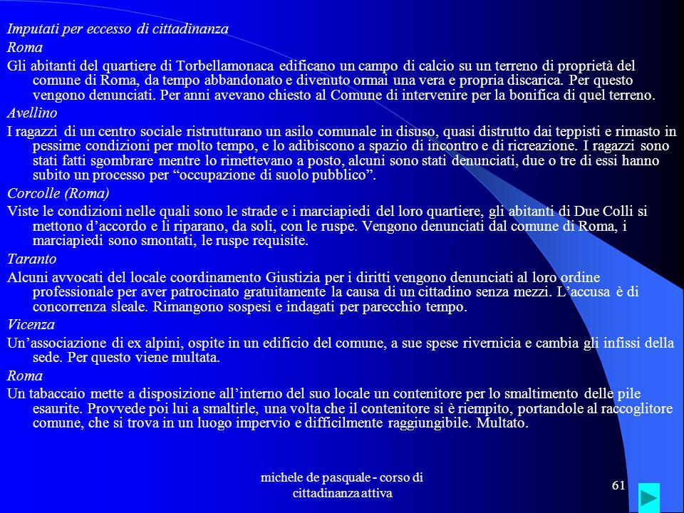 michele de pasquale - corso di cittadinanza attiva