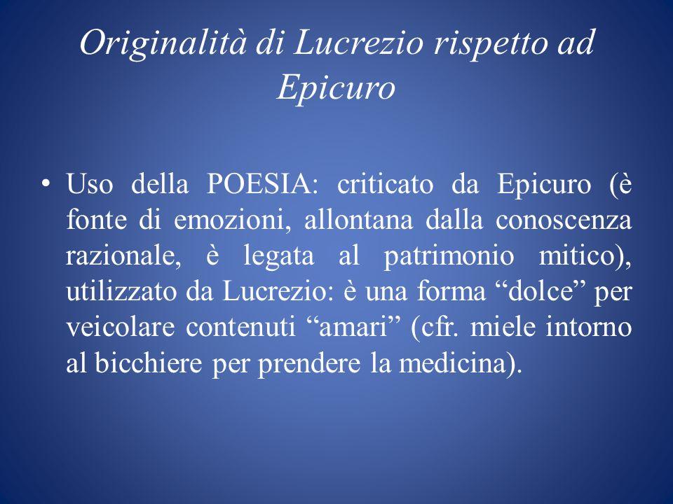 Originalità di Lucrezio rispetto ad Epicuro