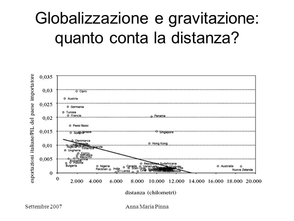 Globalizzazione e gravitazione: quanto conta la distanza