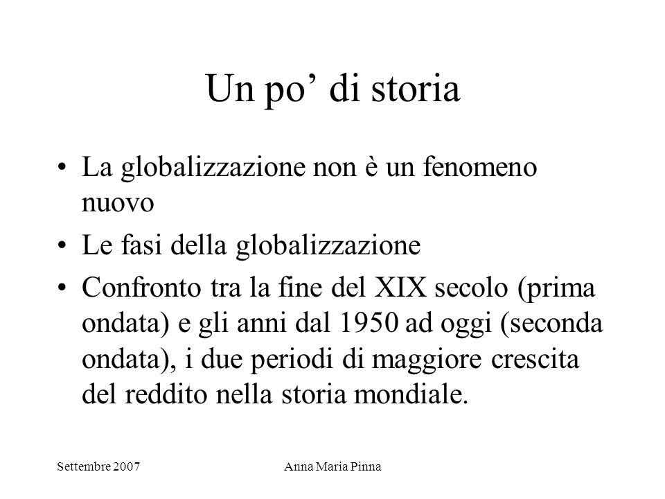 Un po' di storia La globalizzazione non è un fenomeno nuovo