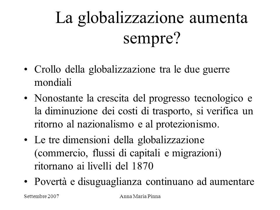 La globalizzazione aumenta sempre