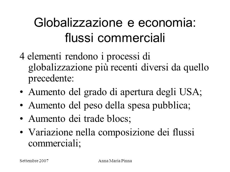 Globalizzazione e economia: flussi commerciali
