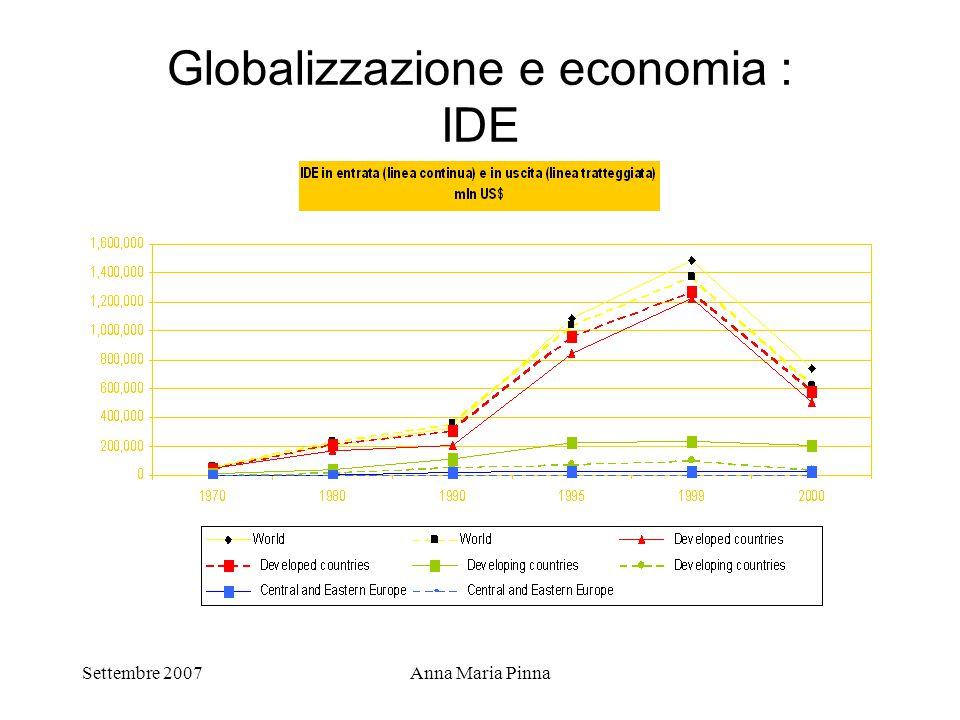 Globalizzazione e economia : IDE